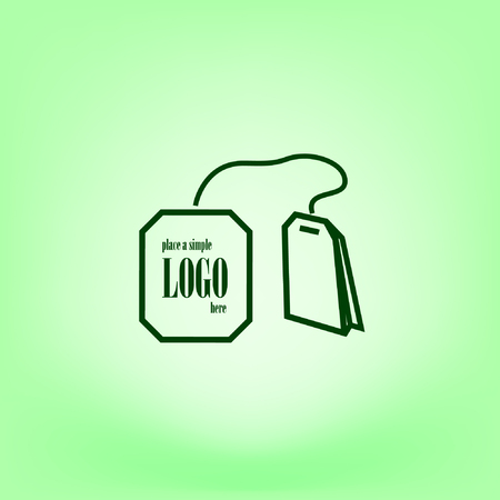 dipping: Teabag  tea bag line art icon for apps and websites