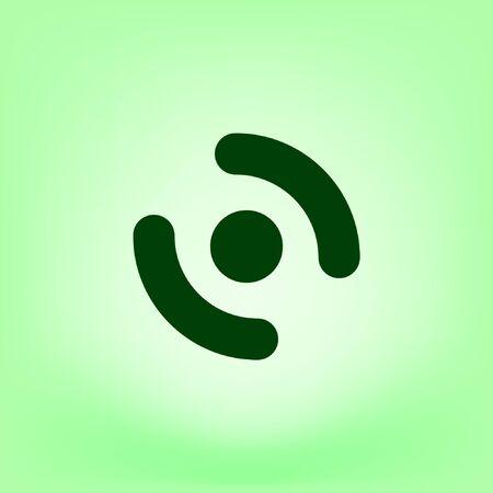 Smart phone vibrating icon. Modern minimalist mobile app flat simple icon.