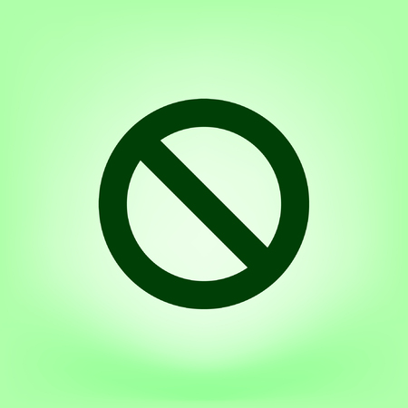 disallowed: Forbidden sign isolated stock vector icon illustration