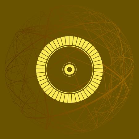 Diamond disc for concrete cutting - vector icon Illustration