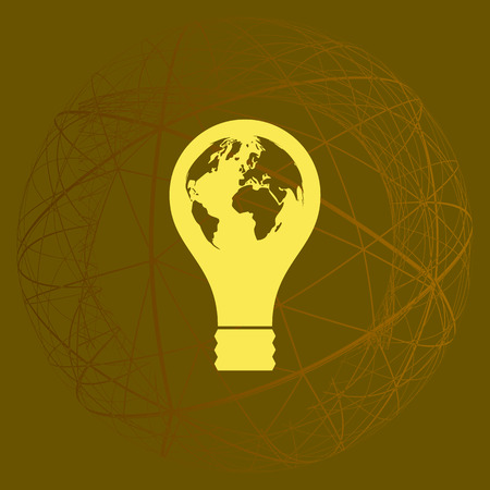 Light bulb stock vector icon illustration design