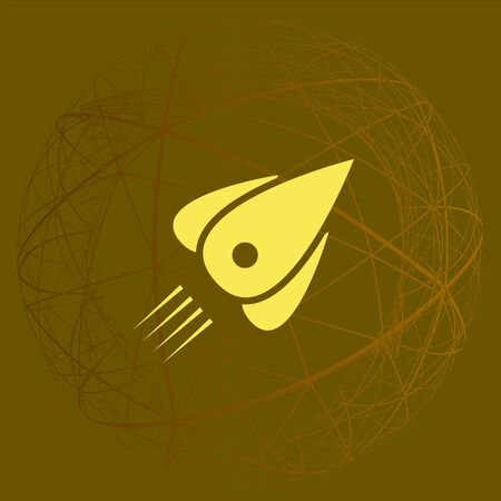 Rocket icon stock vector flat illustration design