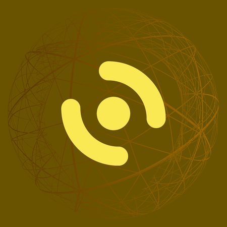 vibrating: Smart phone vibrating icon. Modern minimalist mobile app flat simple icon.