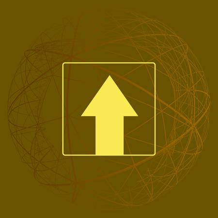 Ahead Only, panneau de signalisation à sens unique, icône de vecteur