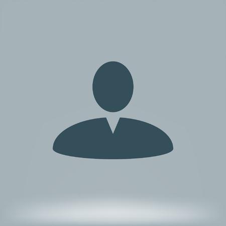 validation: User profile web icon illustration design element