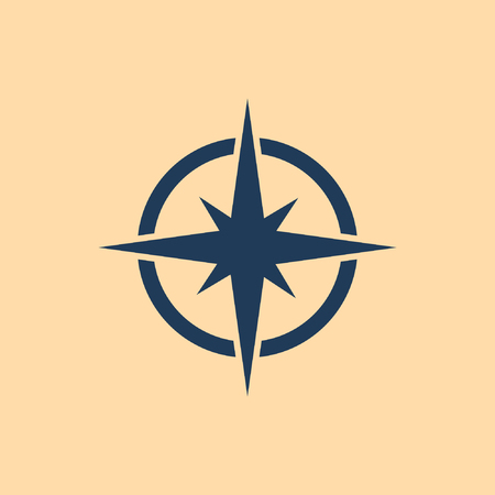 Compass vector icon Иллюстрация