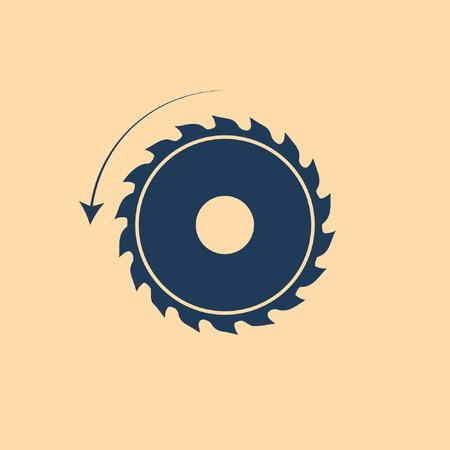 Cirkelzaag. Zaagmolen vector icoon Stockfoto - 73381838