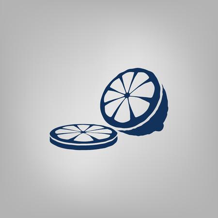 Icono de limón cortado Ilustración de vector