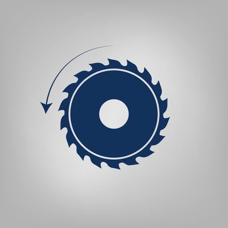 steel mill: circular saw. sawmill vector icon