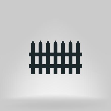 dissociation: Simple fence vector icon