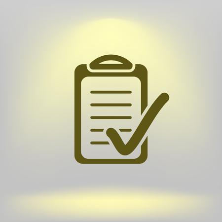 Check list icon illustration.
