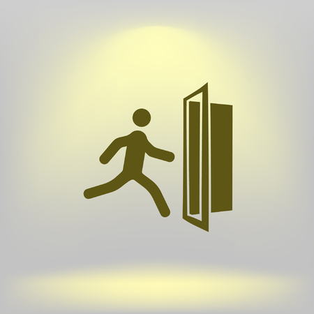 portone: Emergency exit vector icon