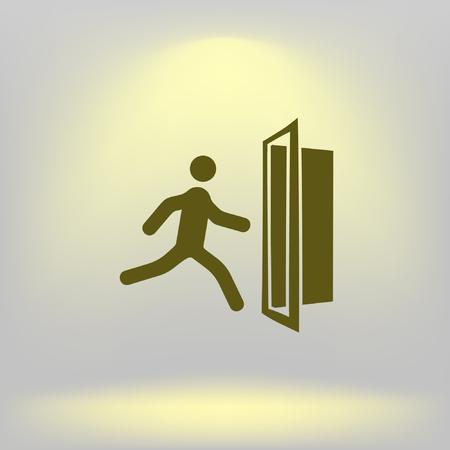 evacuacion: Icono de vector de salida de emergencia