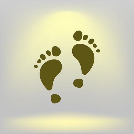 Vector footprint icon. Illustration for web Illustration