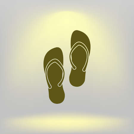 touristic: Simple flip flops icon Illustration