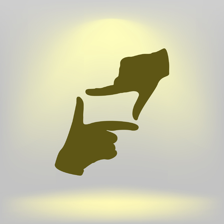 screenplay: Hand lens, web icon. vector design. Illustration