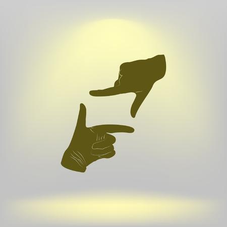 Hand lens, web icon. vector design. Illustration