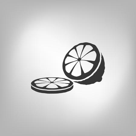 Sliced Lemon Icon Illustration