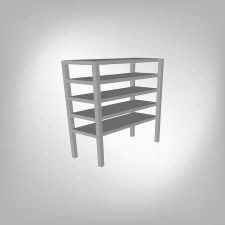 delivery room: blank storage shelf icon