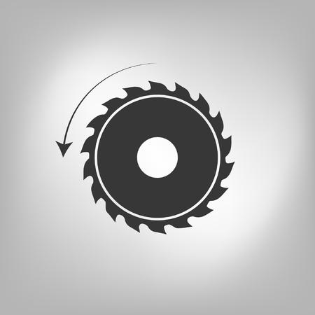 Circular saw. Sawmill vector icon Illustration