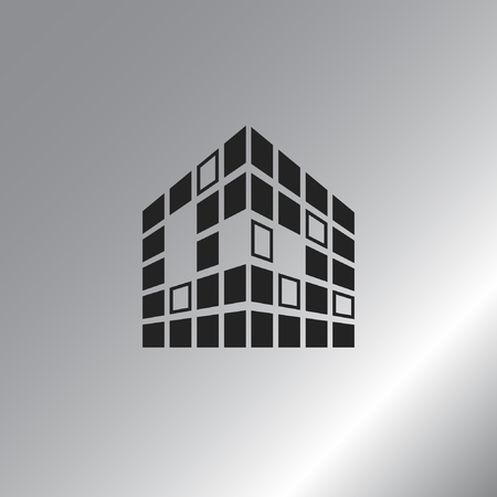 Buildings icon for company Illustration