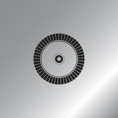 saw blade: Diamond disc for concrete cutting - vector icon Illustration