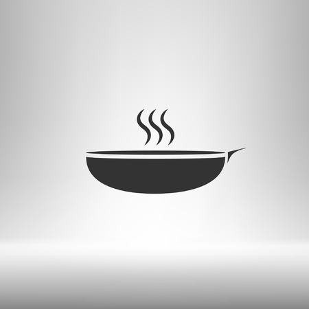 Hot proper meal plate vector illustration icon
