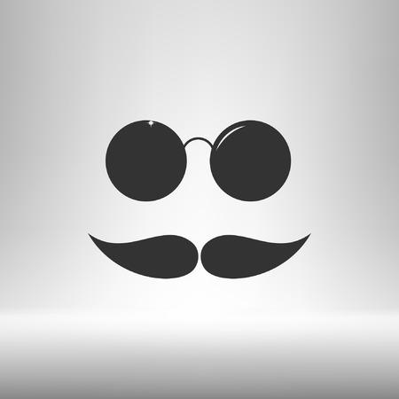 Mustache and glasses icon