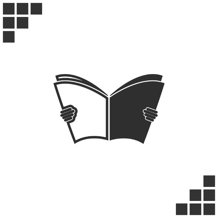 open magazine: reading Book icon
