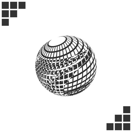 wire mesh: Wire-frame Design Element. Sphere stock vector illustration Illustration