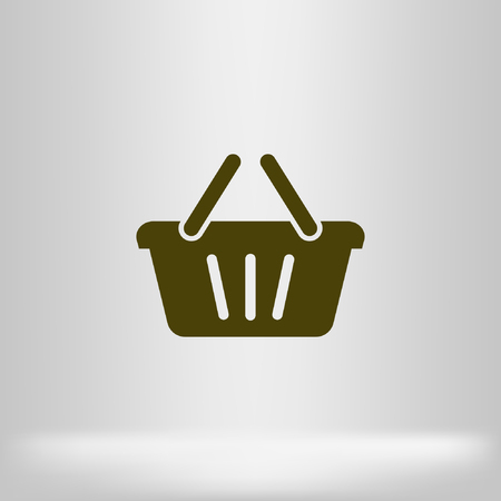 gripping: Store basket vector icon