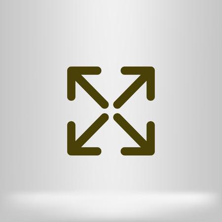 Extend icon Illustration