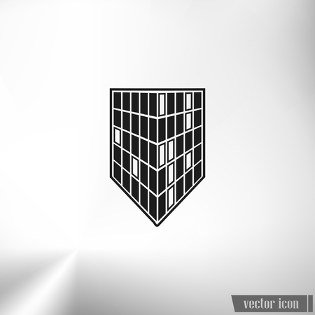 property management: Buildings icon for company Illustration