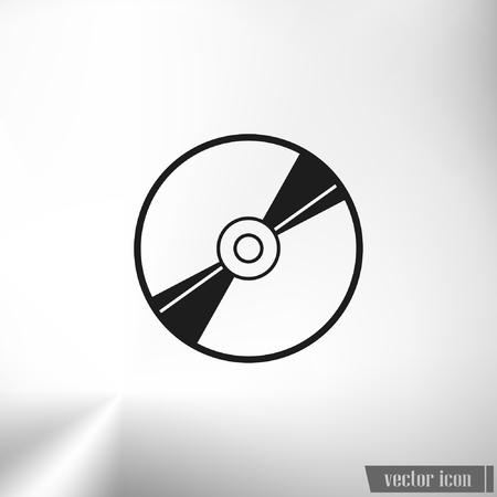 information medium: Vector CD or DVD icon