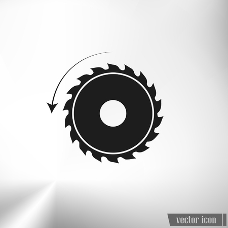circular saw. sawmill vector icon