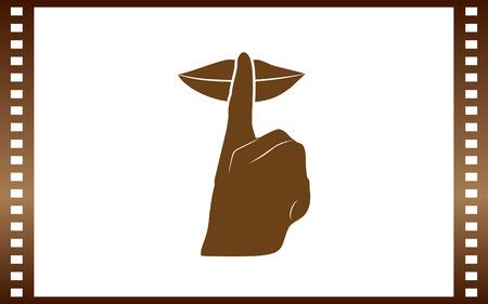 Gardez l'icône de signe silencieux sur fond blanc, illustration vectorielle. Banque d'images - 84365137