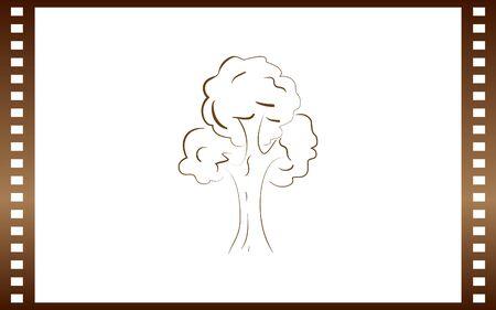 Tree icon. Sketchy style Illustration