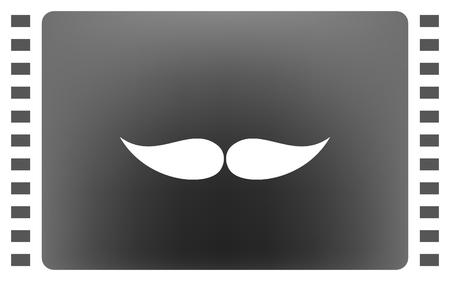 mustaches vector icon Illustration