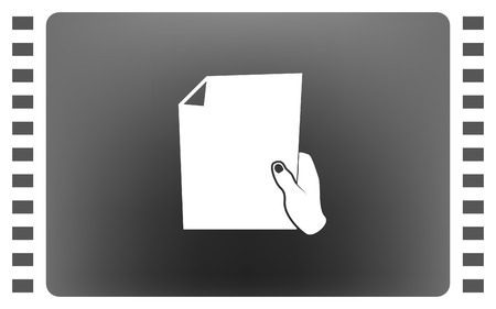 Sheet in hand icon