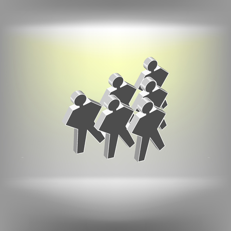 intruder: Gangster person icon. Vector illustration