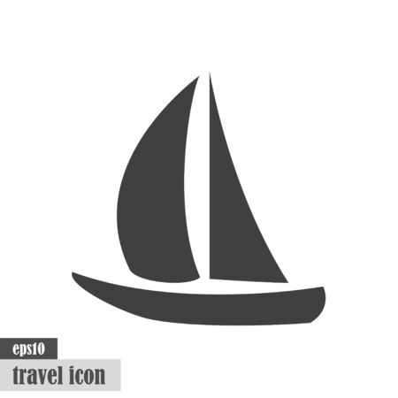 Sailing, yacht symbol - summer travel vector icon eps10 Ilustracja