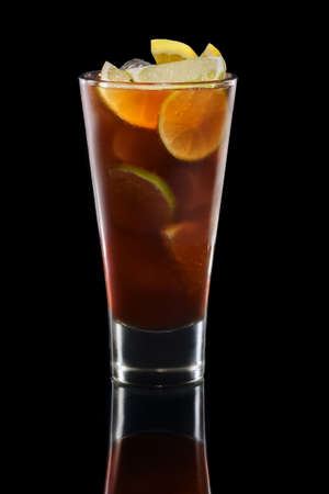Rum and cola cocktail in highball glass Reklamní fotografie