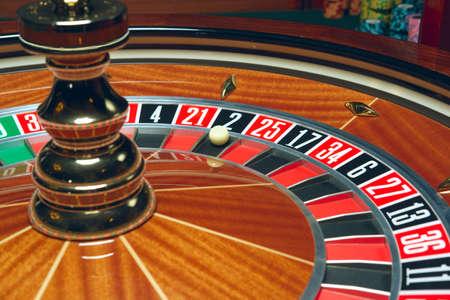 Casino-Roulette mit Kugel Standard-Bild