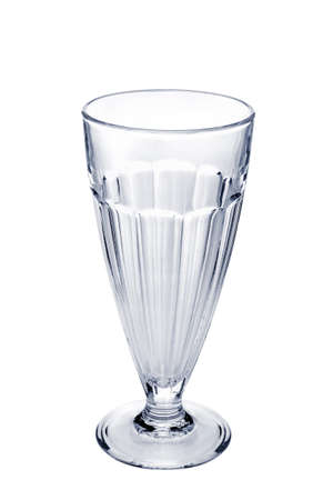 Empty faceted coffee cocktail glass