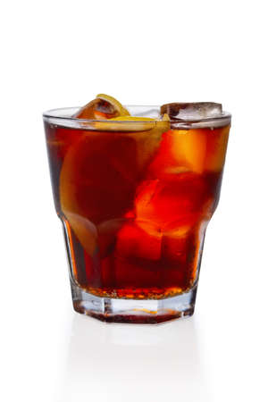 Rum and cola ice cocktail