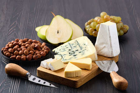 Assortment of cheese and snack for wine Stock fotó - 136970287