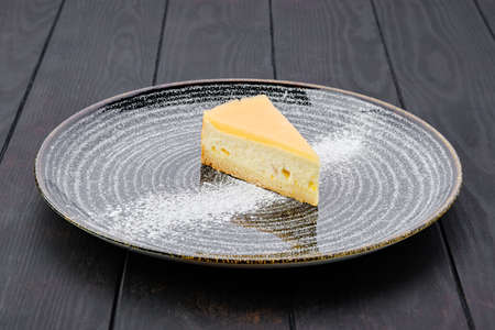 Portion of pumpkin cheese cake