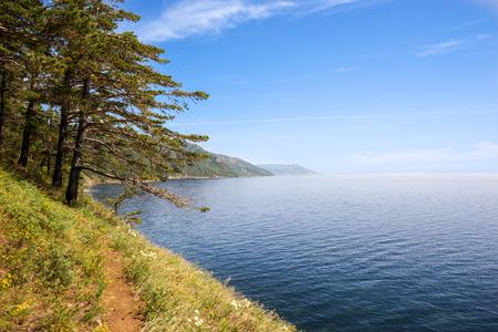 listvyanka: Small trail on the Baikal lake coast; between Listvyanka and Big Koty (Bolshie Koty).