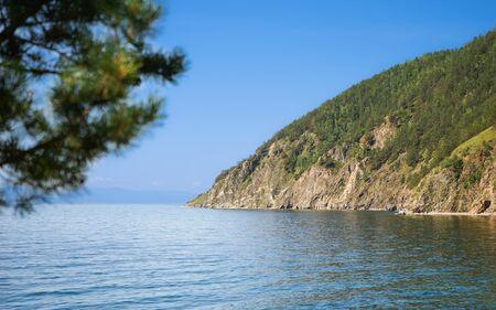 listvyanka: Baikal lake coast; between Listvyanka and Big Koty (Bolshie Koty). Stock Photo