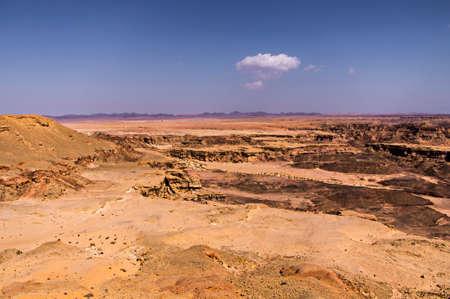 extreme heat: Canyon near Taba in Egypt